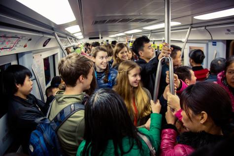 Scene in the Beijing Subway
