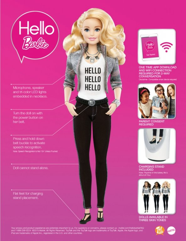 Some of the features of the new doll