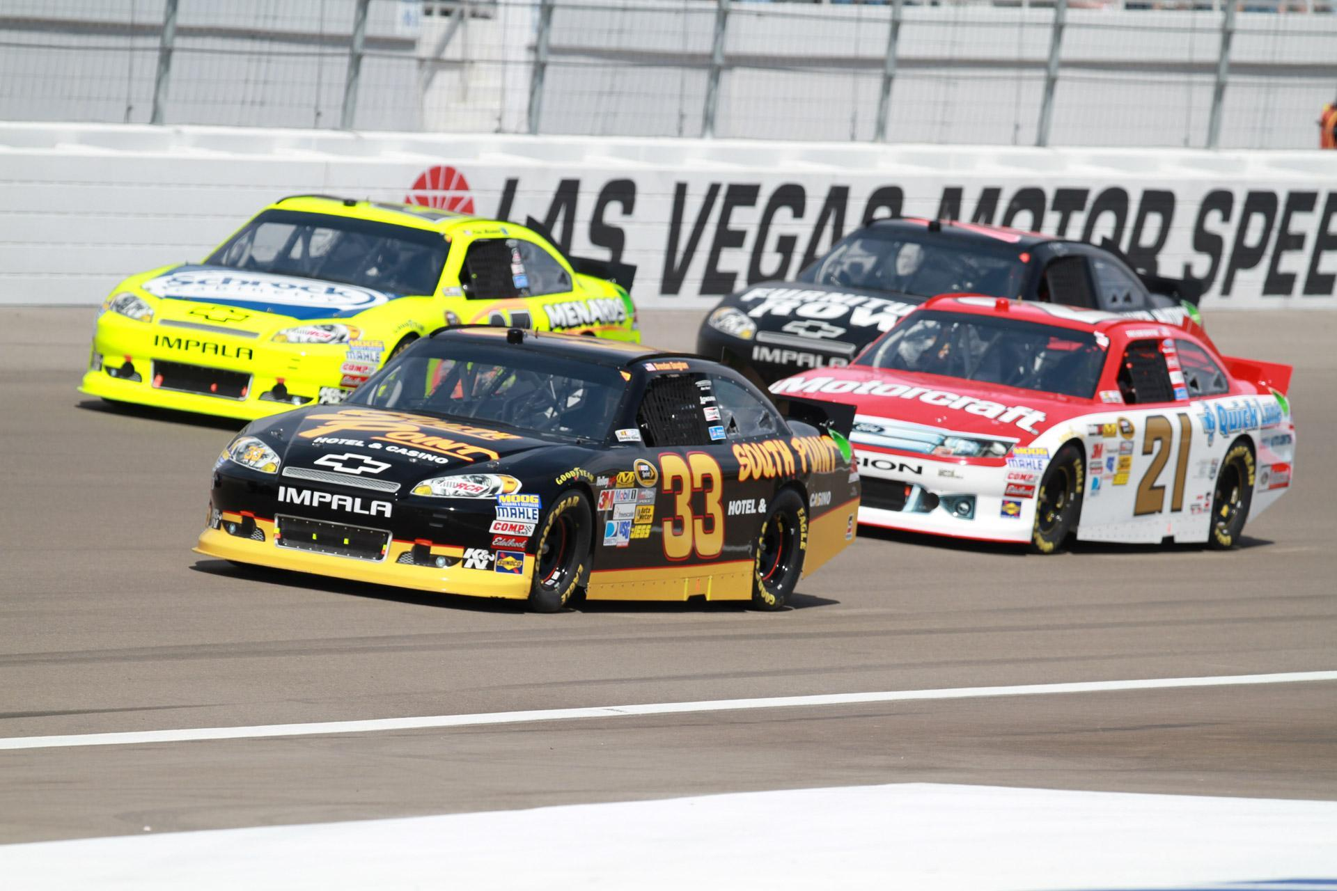 NASCAR racers compete