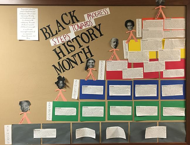 A+Black+History+Month+display+in+the+Upper+School