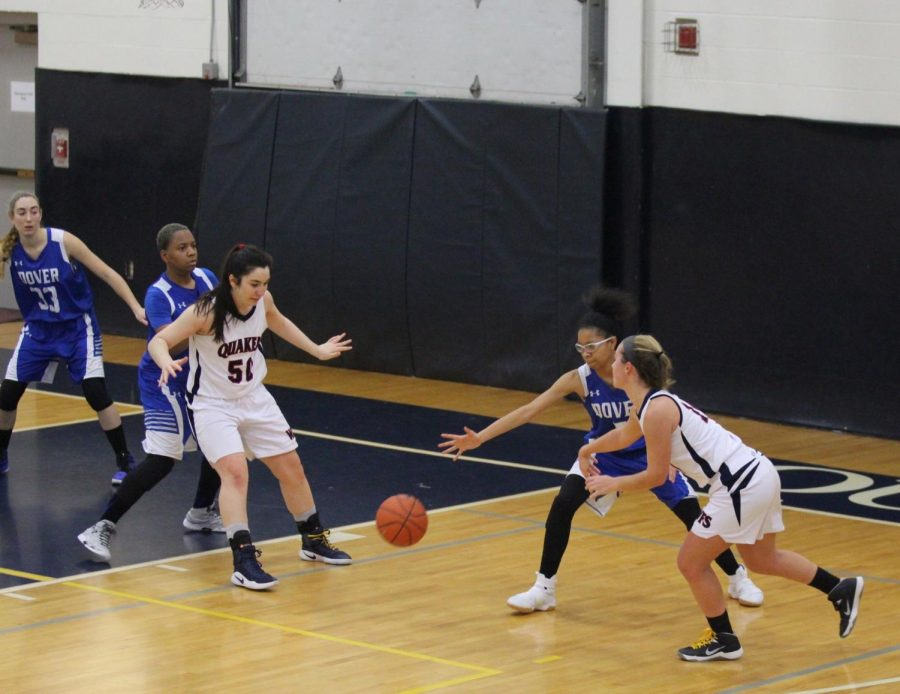 Quaker Women's Basketball in action!