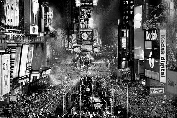 Times Square on New Year's