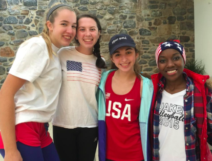 Friends students dressed up for America Day