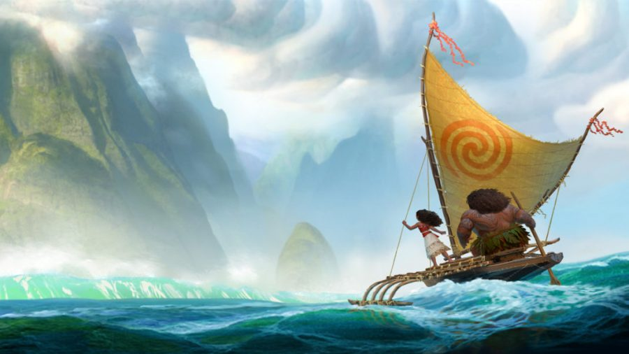 Disney's newest characters Moana and Maui