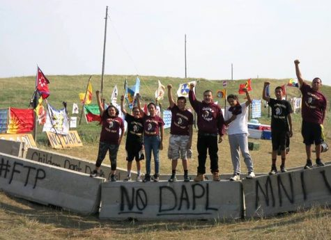 Water protectors in Standing Rock, North Dakota