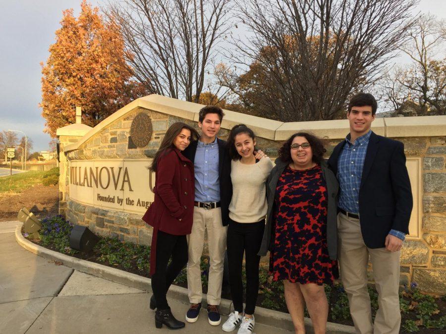 Debate Team outside of Villanova.
